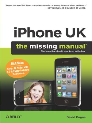 cover image of iPhone UK:  the Missing Manual