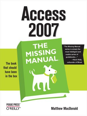 cover image of Access 2007
