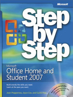 cover image of Microsoft® Office Home and Student 2007 Step by Step