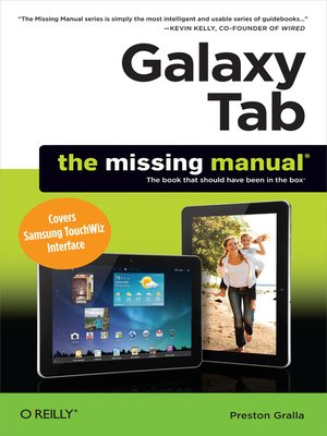 cover image of Galaxy Tab:  the Missing Manual