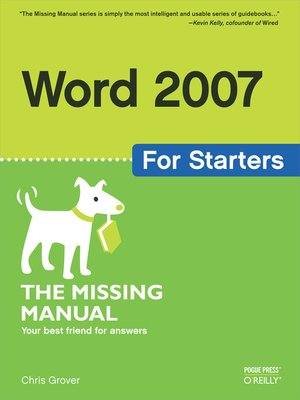 cover image of Word 2007 for Starters