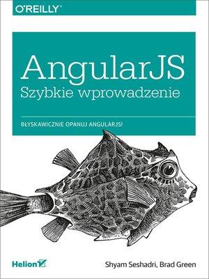 cover image of AngularJS. Szybkie wprowadzenie