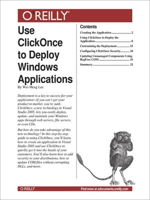 Use ClickOnce to Deploy Windows Applications by Wei-Meng Lee