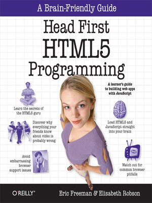 cover image of Head First HTML5 Programming