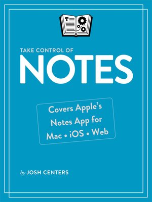 cover image of Take Control of Notes