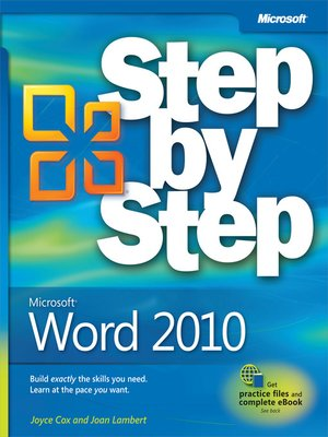 cover image of Microsoft® Word 2010 Step by Step