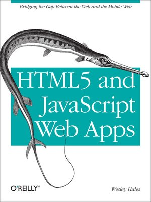 cover image of HTML5 and JavaScript Web Apps