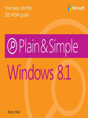 cover image of Windows 8.1 Plain & Simple