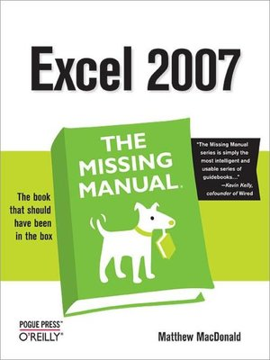 cover image of Excel 2007