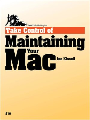 cover image of Take Control of Maintaining Your Mac