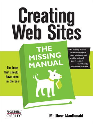 cover image of Creating Web Sites:  the Missing Manual