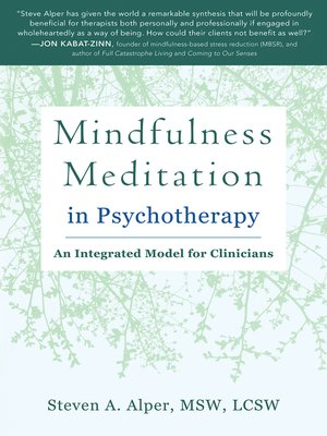 cover image of Mindfulness Meditation in Psychotherapy