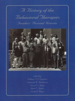 cover image of A History of the Behavioral Therapies