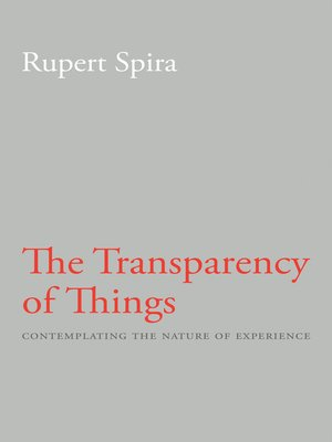 cover image of The Transparency of Things
