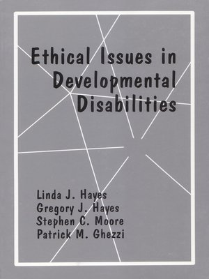 cover image of Ethical Issues in Developmental Disabilities