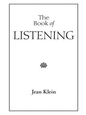 cover image of The Book of Listening