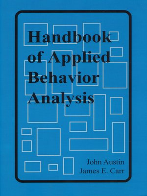 cover image of Handbook of Applied Behavior Analysis