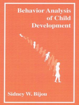 cover image of Behavior Analysis of Child Development