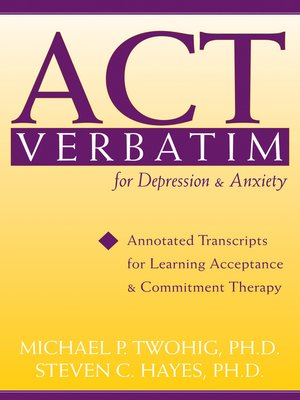 cover image of ACT Verbatim for Depression and Anxiety