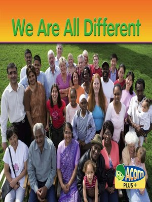 cover image of We are all Different