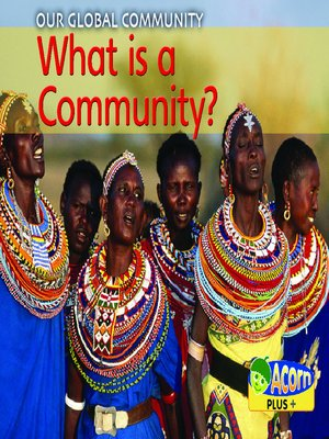cover image of What is a Community?