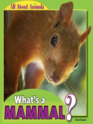 cover image of What's a Mammal?