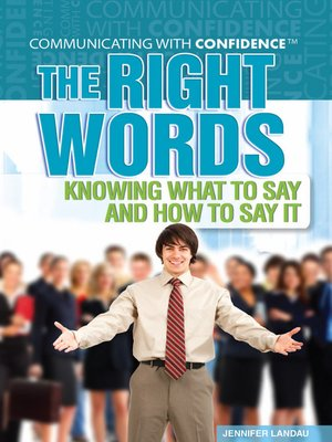 cover image of The Right Words