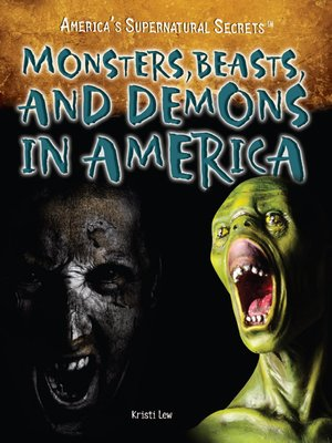 cover image of Monsters, Beasts, and Demons in America