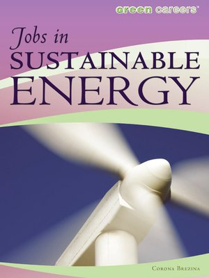 cover image of Jobs in Sustainable Energy