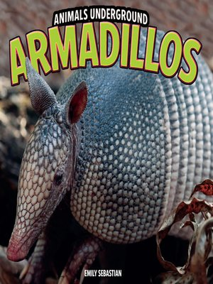 cover image of Armadillos