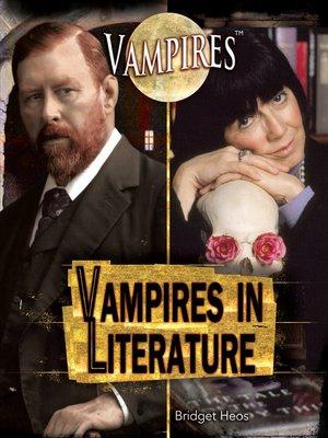 cover image of Vampires in Literature