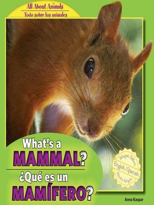 cover image of What's a Mammal? / ¿Qué es un mamífero?