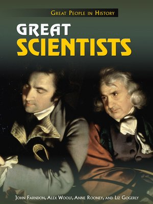 cover image of Great Scientists