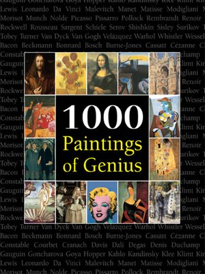 cover image of 1000 Paintings of Genius