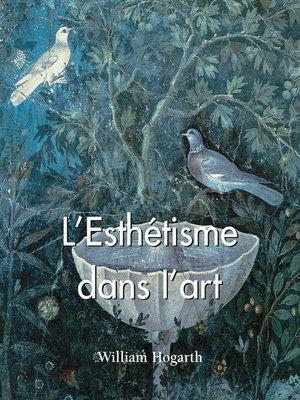 cover image of L'Esthétisme dans l'art