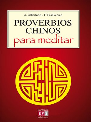 cover image of Proverbios chinos para meditar