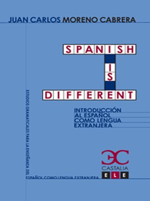 cover image of Spanish is different