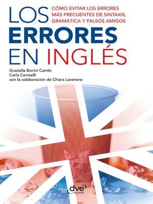 cover image of Los errores en inglés
