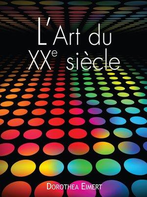 cover image of L'art du XXe siècle
