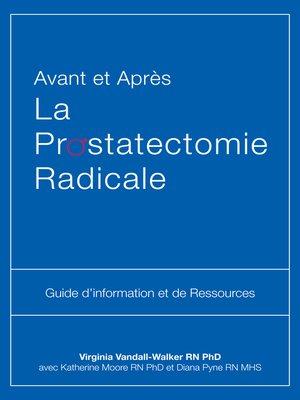 cover image of Avant et Après La Prostatectomie Radicale