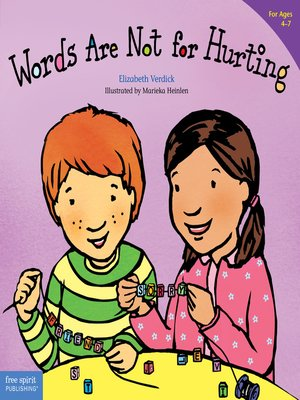 cover image of Words Are Not for Hurting