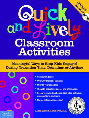 cover image of Quick and Lively Classroom Activities