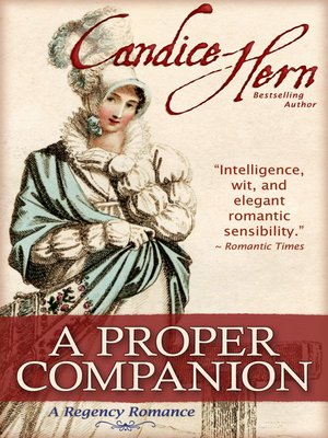 cover image of A Proper Companion