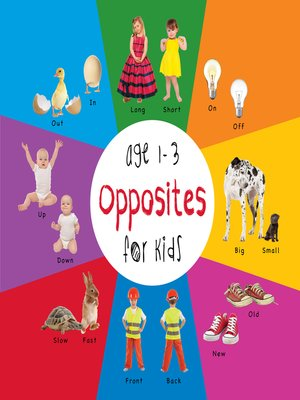 cover image of Opposites for Kids age 1-3