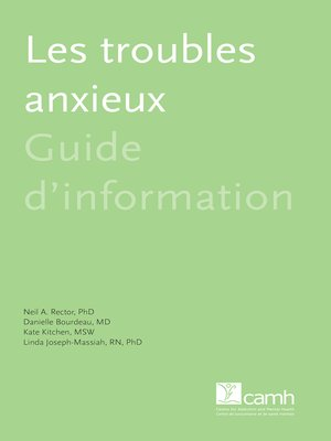 cover image of Les troubles anxieux