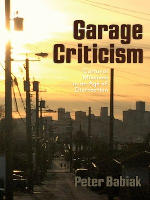 cover image of Garage Criticism