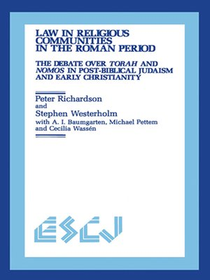 cover image of Law in Religious Communities in the Roman Period