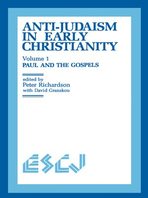 cover image of Anti-Judaism in Early Christianity