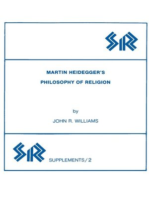 cover image of Martin Heidegger's Philosophy of Religion