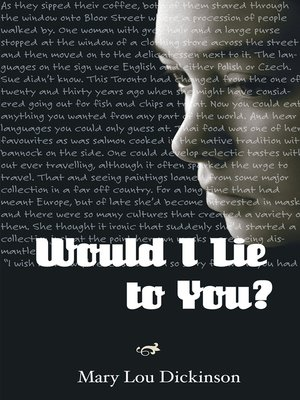 cover image of Would I Lie to You?